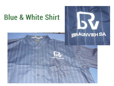 Mens Blue and White Shirt -