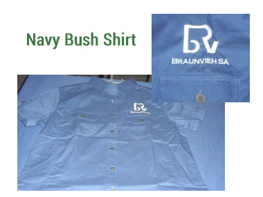 Ladies Navy Bush Shirt -