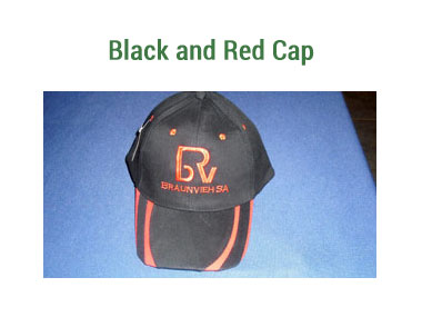 Caps - Black and Red