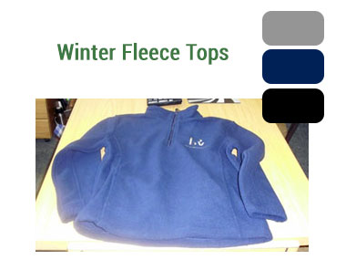 Mens and Ladies Fleece Tops - Available in grey, navy or black