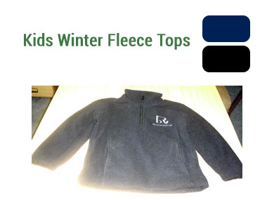 Kids Fleece Tops - Available in navy or black