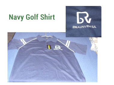 Mens Navy Golf Shirt -