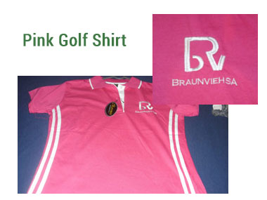 Ladies Pink Golf Shirt -