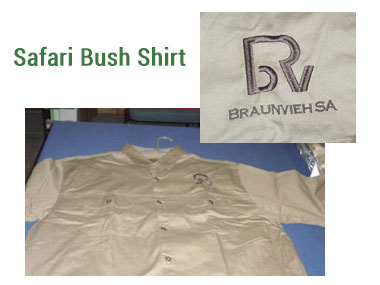 Mens Safari Bush Shirt -